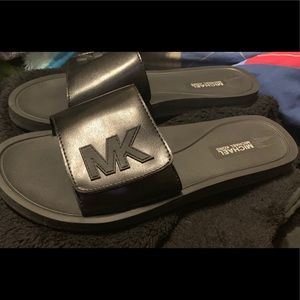 Michael Kors Logo Black Slide